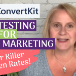 ConvertKit AB testing for email marketing // Get killer open rates!